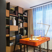 8平米现代风格阳台改书房装修效果图