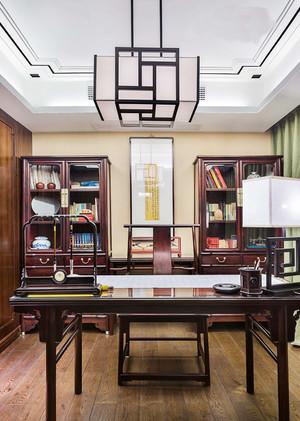 20平米仿古中式风格书房吊顶装修效果图