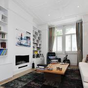 北欧风格长方形客厅书房装修效果图赏析