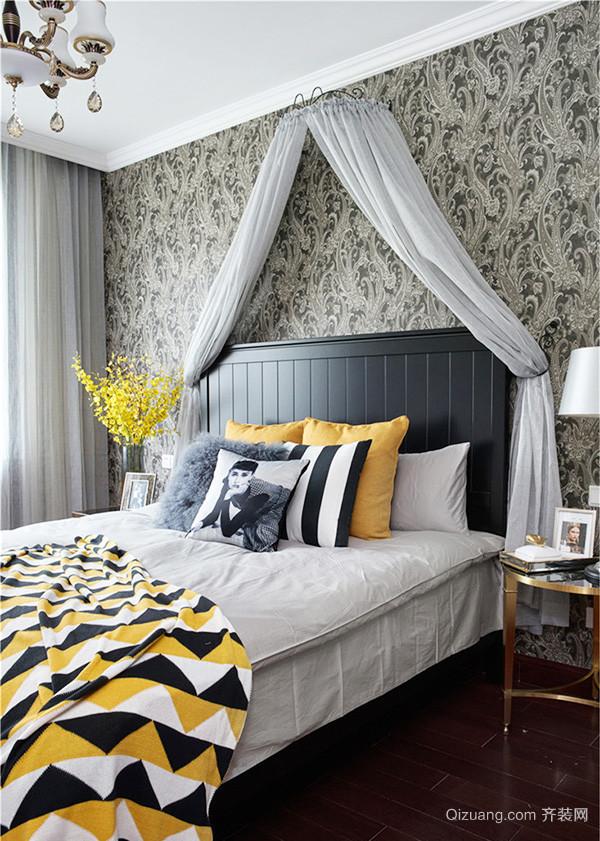 简欧风格混搭卧室背景墙装修效果图赏析