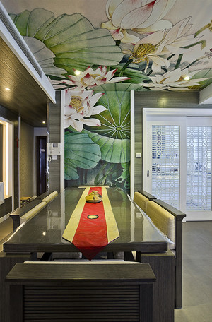 现代简约中式风格复式楼室内装修效果图赏析