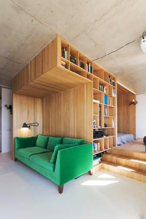 40平米小公寓日式风格室内装修效果图鉴赏