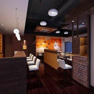 90平米现代风格咖啡厅装修效果图鉴赏