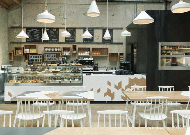 120平米现代风格咖啡厅装修效果图鉴赏