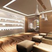 135平米现代风格美容院装修效果图赏析