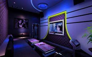 78平米现代风格中包厢KTV室内装修效果图