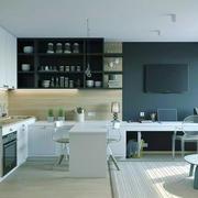 北欧风格二居室开放式厨房装修效果图赏析