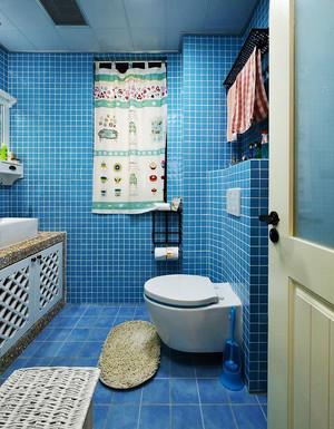 地中海风格二居室卫生间马赛克瓷砖效果图