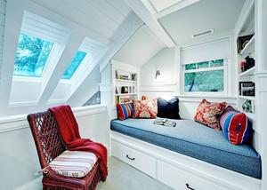146平米简欧风格阁楼飘窗设计效果图赏析