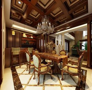 古典欧式风格别墅餐厅吊顶设计效果图赏析