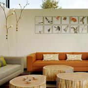 125平米后现代风格客厅沙发效果图鉴赏