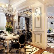 欧式风格三居室客厅餐厅隔断设计效果图赏析
