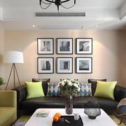 110平米美式田园风格客厅照片墙效果图赏析