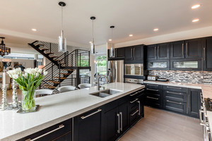 欧式风格复式楼厨房橱柜效果图赏析