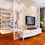欧式风格小户型客厅书房隔断设计效果图