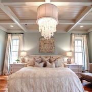 36平米欧式风格浪漫女生卧室吊灯效果图鉴赏