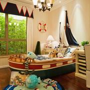 26平米欧式英伦风格儿童房装修效果图赏析