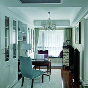 22平米现代风格书房飘窗设计效果图鉴赏