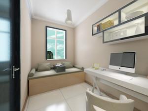 132平米现代简约风格书房榻榻米设计效果图赏析