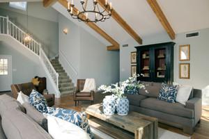 现代美式风格复式楼客厅装修效果图赏析