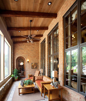 美式风格别墅阳台吊顶设计效果图鉴赏
