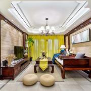 中式风格别墅客厅吊顶设计效果图赏析