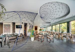 205平米现代风格餐厅装修效果图赏析