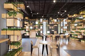 180平米现代风格咖啡厅装修效果图赏析