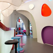 220平米现代风格幼儿园游乐区装修效果图鉴赏