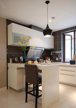 8平米简约风格厨房吧台效果图赏析