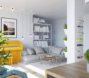 北欧风格两居室室内装修效果图赏析