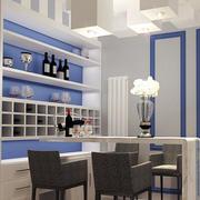 地中海风格二居室酒柜吧台效果图赏析