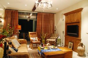 156平米复古美式风格室内装修效果图赏析