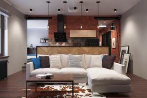 复古风格男生公寓室内装修效果图赏析