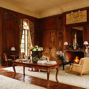 古典欧式风格别墅客厅壁炉效果图赏析