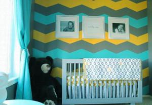 简欧风格儿童房婴儿床效果图赏析