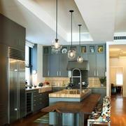 19平米现代风格开放式厨房装修效果图