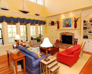 美式混搭风格四居室客厅装修效果图鉴赏