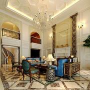 欧式风格别墅客厅中空吊顶装修效果图鉴赏