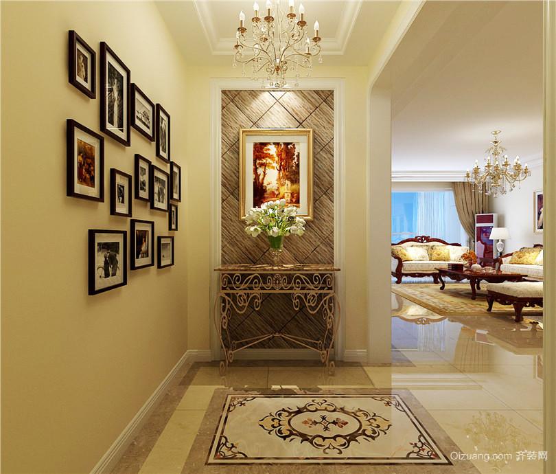 136平米欧式风格客厅玄关照片墙效果图赏析