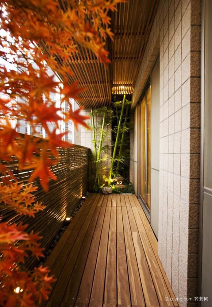 日式风格自建别墅阳台装修效果图赏析