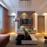 115平米现代简约风格客厅电视背景墙设计效果图鉴赏