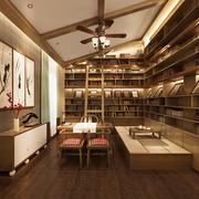 30平米现代中式风格书房装修效果图鉴赏