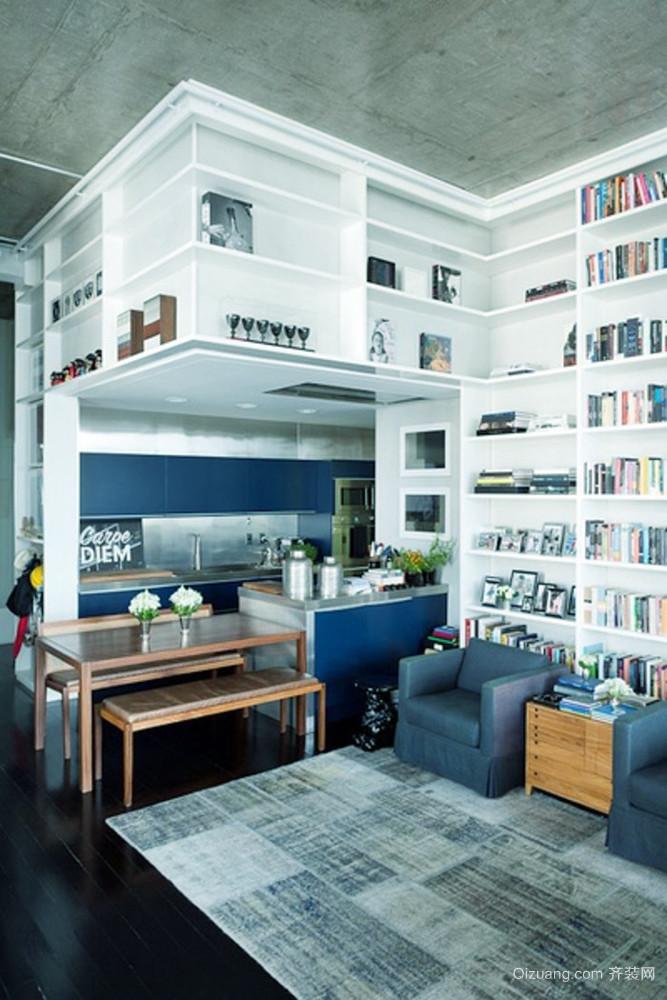 现代风格小户型客厅厨房装修效果图鉴赏