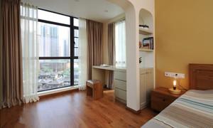 现代风格单身公寓阳台改书房装修效果图赏析