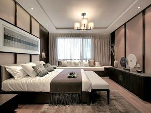 中式风格大户型卧室装修效果图鉴赏