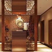 中式风格大户型玄关镂空隔断设计效果图鉴赏