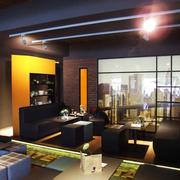120平米后现代风格咖啡厅装修效果图赏析