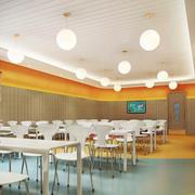 167平米现代风格幼儿园餐厅装修效果图赏析