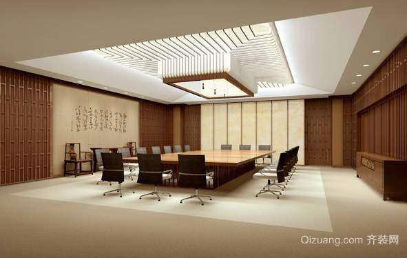 132平米中式风格会议室装修效果图鉴赏